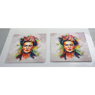 Two Frida Kahlo Pillow Cases