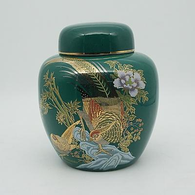 Asian Pheasant Jar with Decorated Cap
