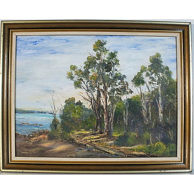 Kath Roberts Nelson Bay Oil on Board