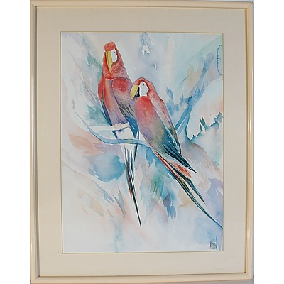 Two Original Watercolours and One Original Pastel Artists Include Cynthia Hundleby, Anne Elliott, and Paul N Norton