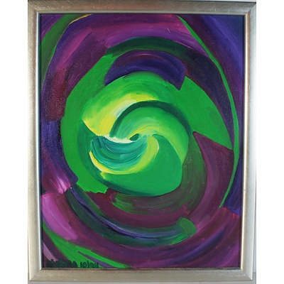 Two Diedra Krieger Focus & Spinning Infinity Oil on Boards