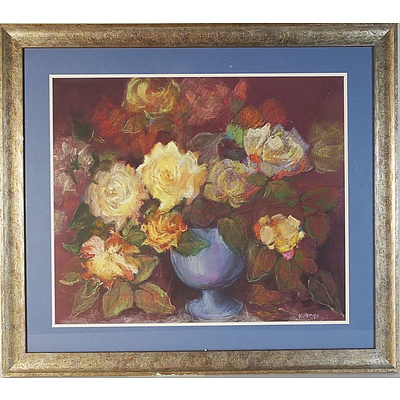 Marian Overs Yellow Roses Pastels