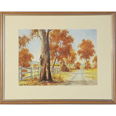 John Clark Cobbity NSW Watercolour