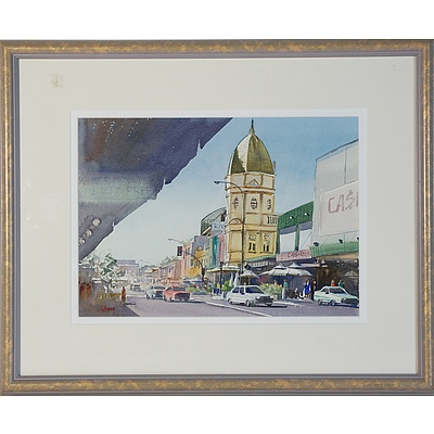 Mary Chong Church Street Parramatta Watercolour and M Lane Rue Royal Watercolour