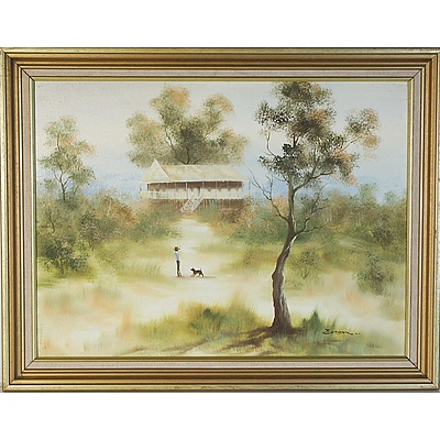 Three Australiana Original Oil on Boards Including Artists Essen, Josef Noawak, G Stone