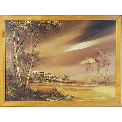 Three Original Landscape Oil on Boards Including the Artists T. Kelly and Adrian Goric