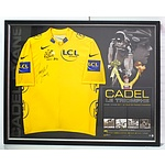 Cadel Evans Tour de France Framed Signed Jersey