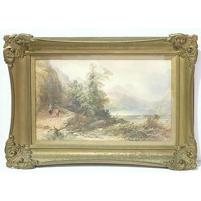 David Hall McKewan (1817-1873) Scottish Moor Watercolour