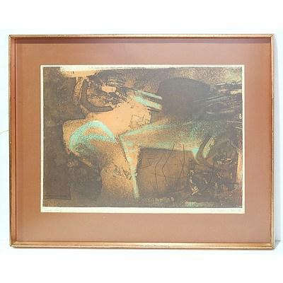 Earle Backen (1927-2005) Paris '59 Artist Proof Colour Etching