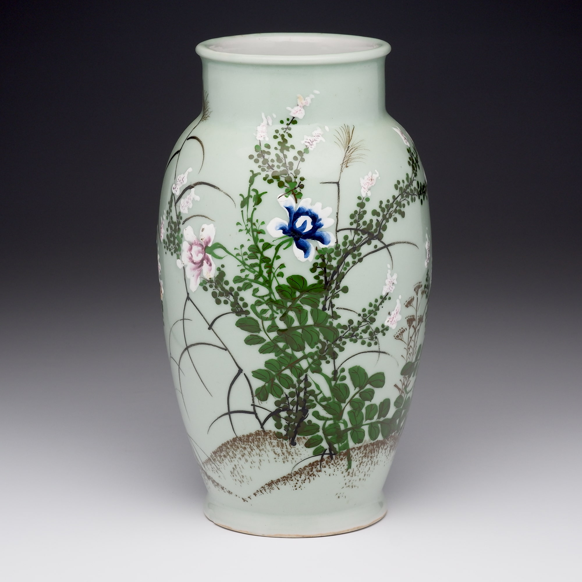 'Chinese Celadon Ground and Slip Decorated Vase, Early 20th Century'