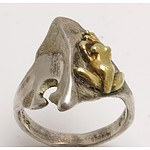 Silver & 18ct Gold Ring