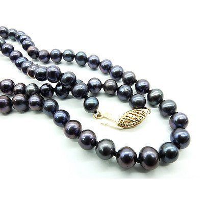 Black Dyed Fresh Water Pearls