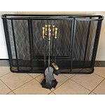 Fireplace Screen and Fire Tool Set