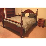 Queen Bed and Two Bedside Tables