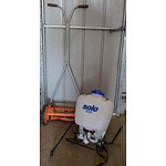 Flymo Push Mover and Solo Backpack Sprayer