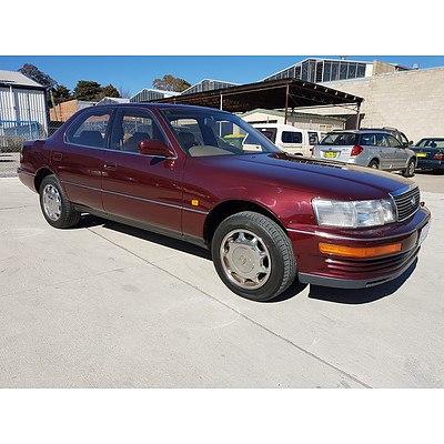 9/1991 Lexus LS400 UCF10R 4d Sedan Maroon 4.0L