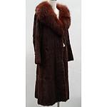 Vintage Mink Coat with Fox Fur Collar