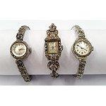 Three Vintage Marcasite Watches