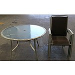 Outdoor 5 Piece Garden Round Table Setting