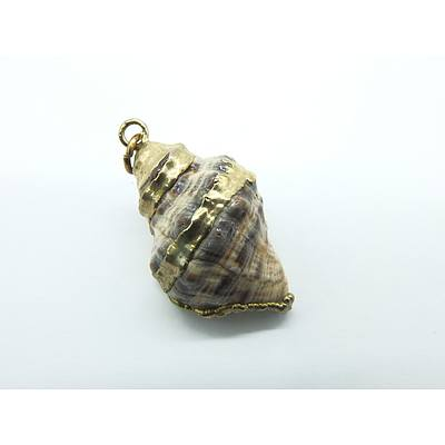 Gold Leaf Wrapped Shell