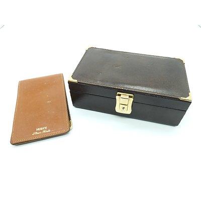 Italian Leather Jewellery Box and a Husky Steer Hide Notebook
