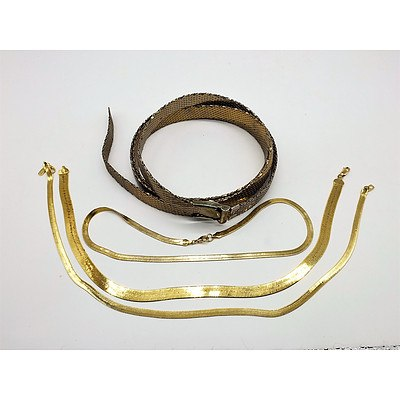 Two Oroton Belts and a Bracelet