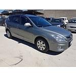 8/2009 Hyundai I30 cw SX 1.6 CRDi FD MY09 4d Wagon Grey 1.6L
