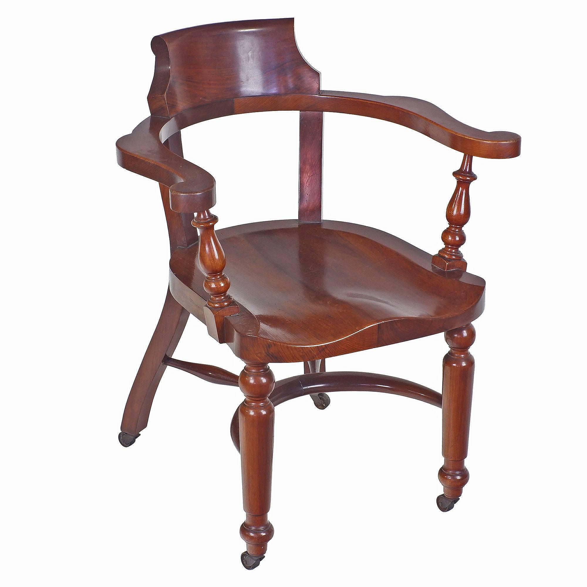 'Good Tasmanian Blackwood Captains Chair Circa 1920'