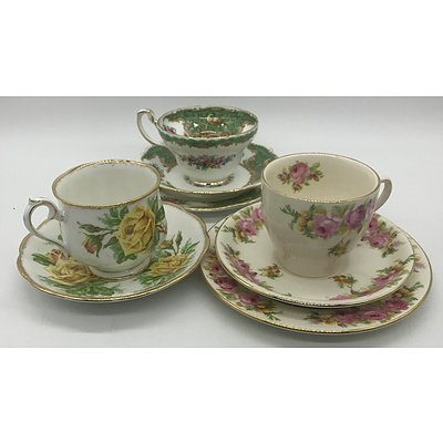 Large Group of English Tea Trios and Doubles Including Royal Doulton, Foley, Royal Albert and More