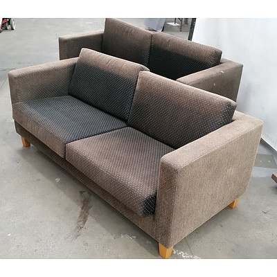 Two Seater Couches - Set of Two