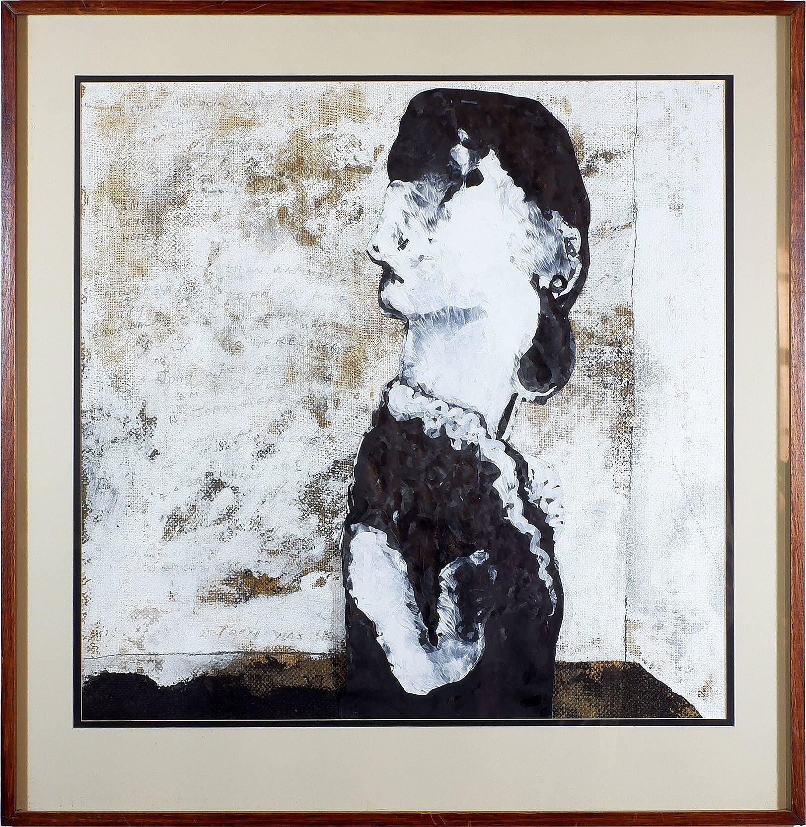 'Andrew Sibley (1933-2015), Collage and Mixed Media on Hessian, 1978'