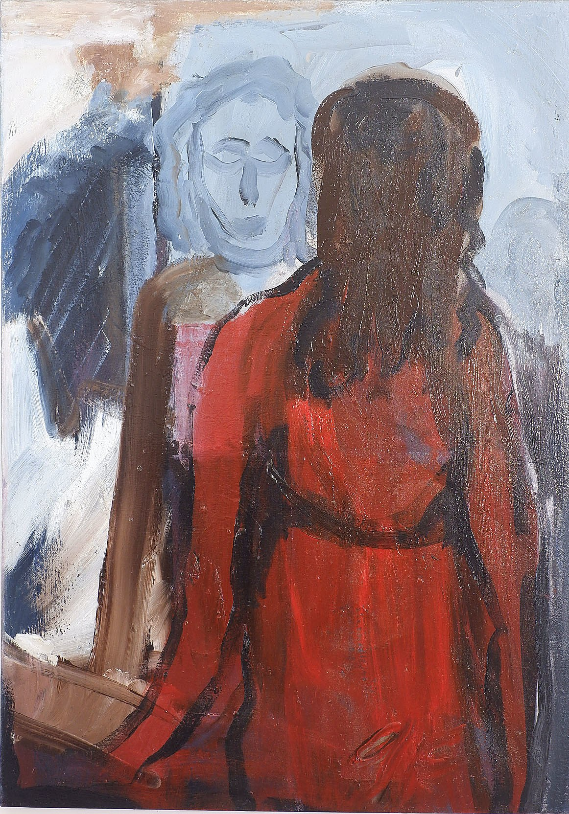 'George Foxhill (1921-2011), Lady with Mirror, 1986, Oil on Canvas'