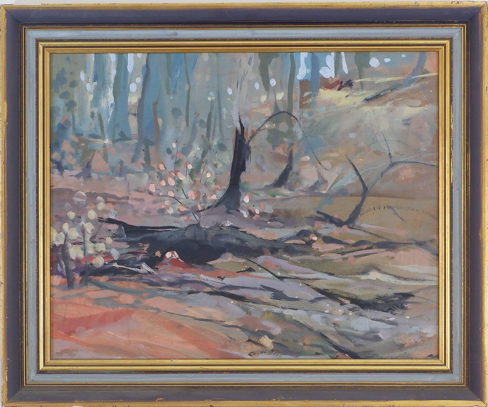 'Artist Unknown, Landscape, Oil on Board, 1983'