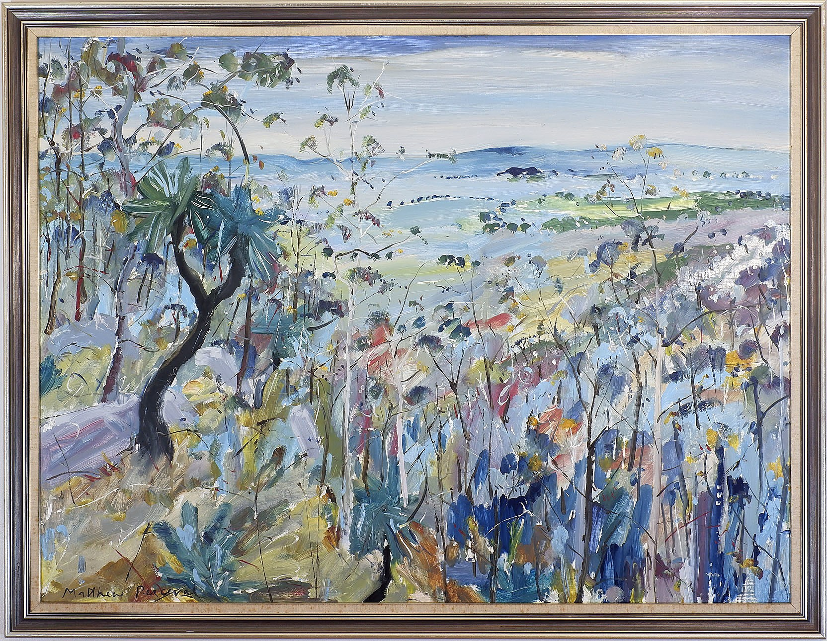 'Matthew Perceval (b. 1945), Black Boys at Vincents Lookout I, Oil on Board'