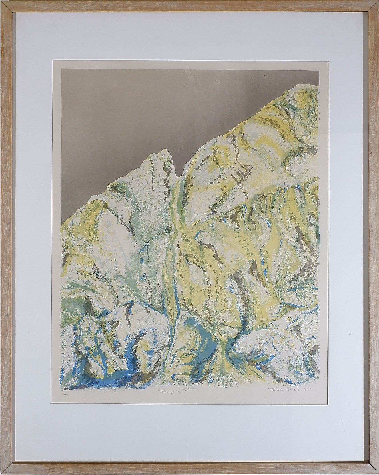 'Louise Saw, Hanging Rock, Colour Lithograph '