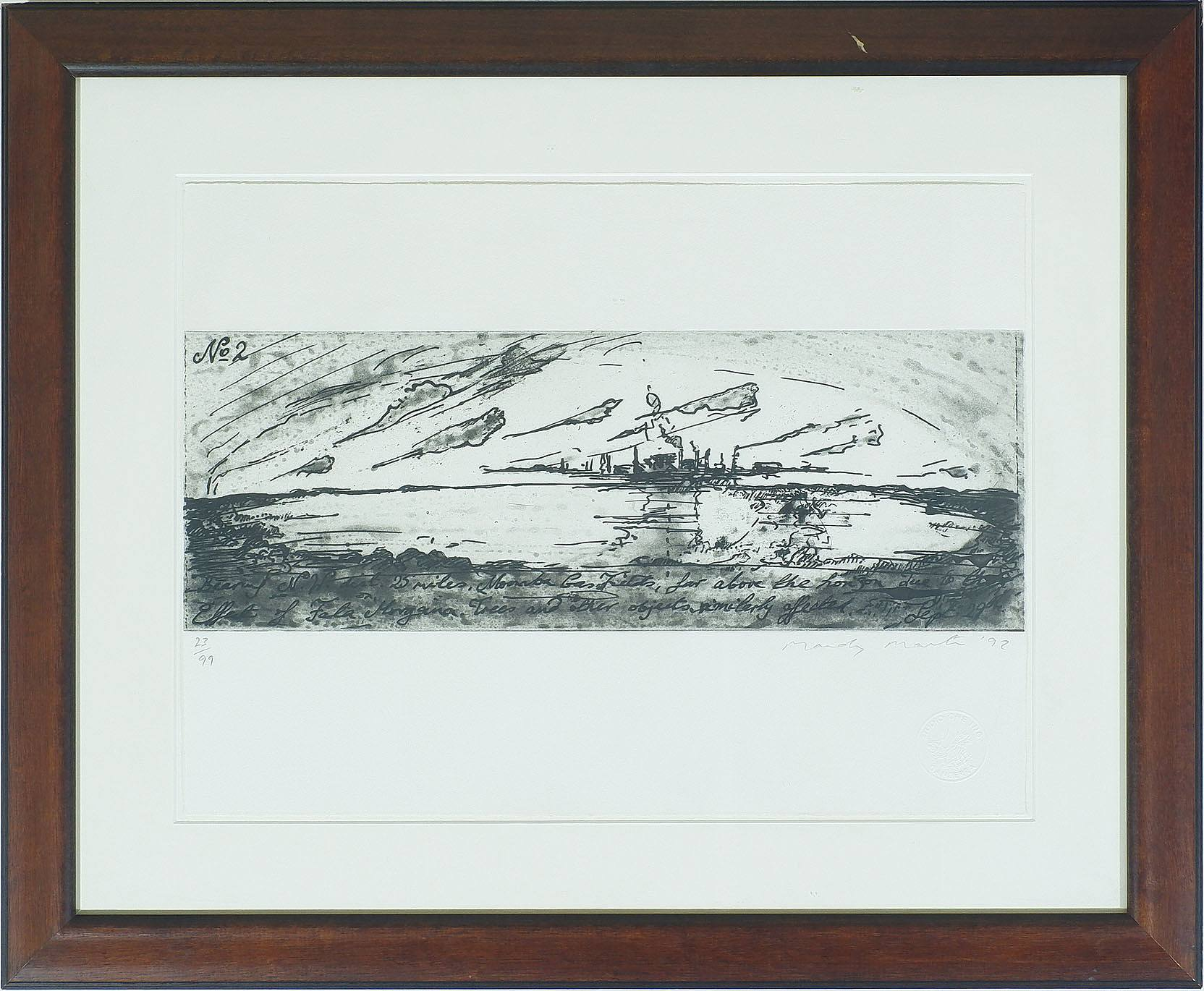 'Mandy Martin (b. 1952) Number Two, Lithograph Edition 23/99'