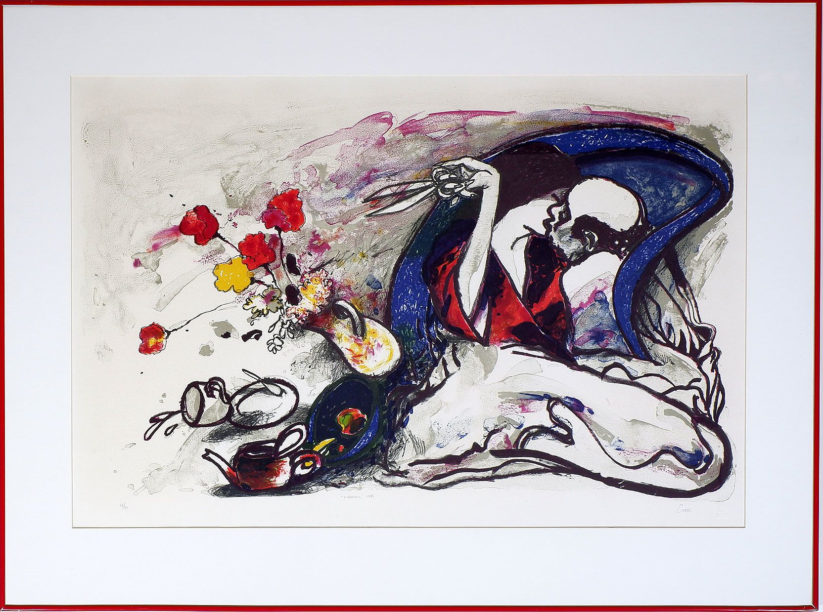 'Fred Cress (1938-2009), Chases 1988, Colour Lithograph Edition 13/97'