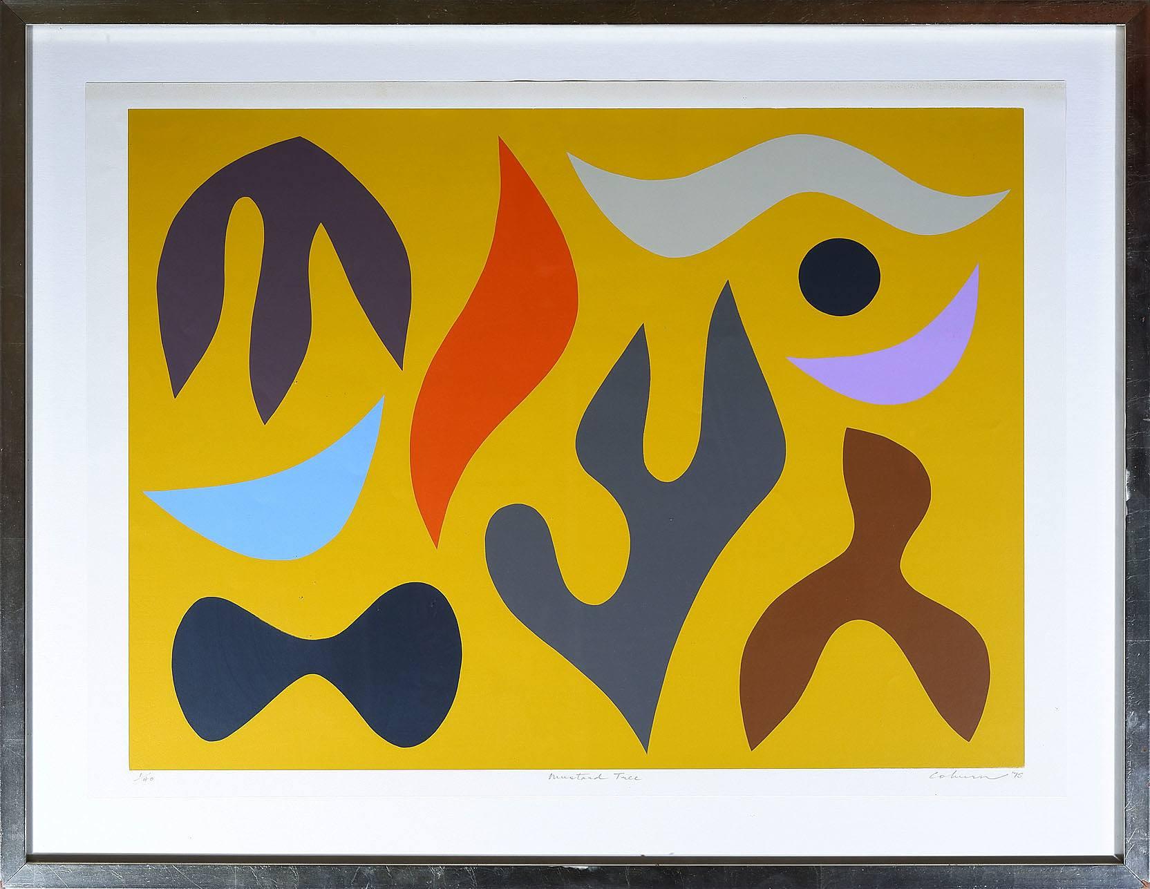 'John Coburn (1925-2006) Mustard Tree, Screenprint Edition 1/40'