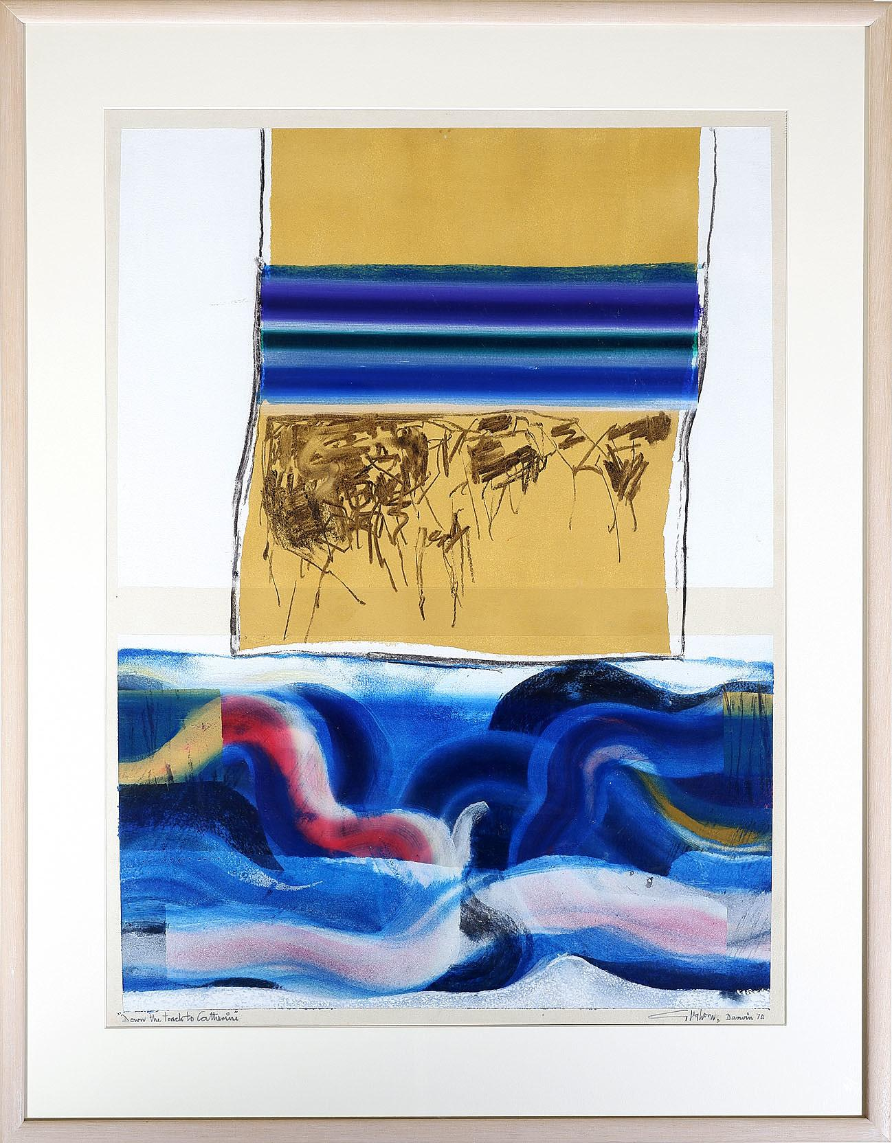 'Tom Gleghorn (b. 1925) Down the Track to Catherine, Mixed Media on Paper'