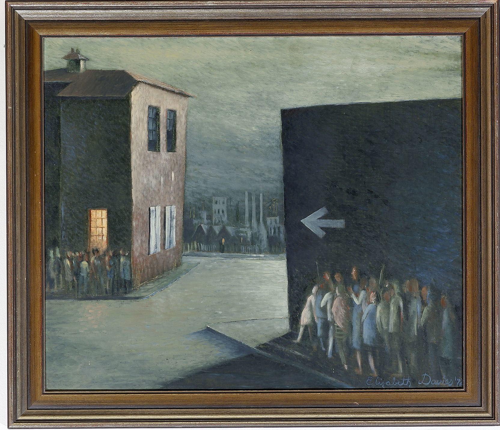 'Elizabeth Davies, Oil on Board'