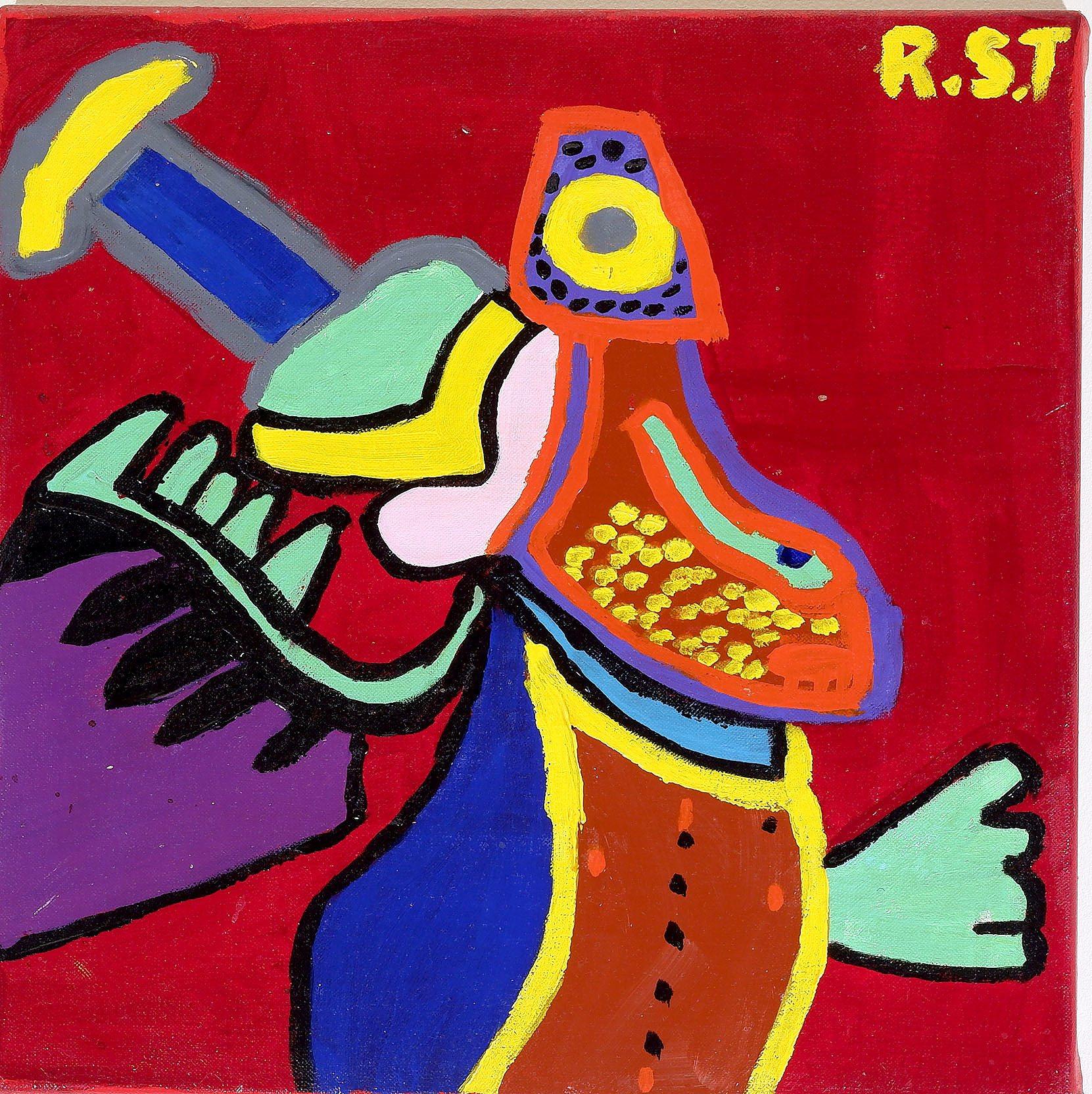'Ray Tarrant (The Colour Gang Group - Bairnsdale VIC) Angel Maria, Acrylic on Canvas'