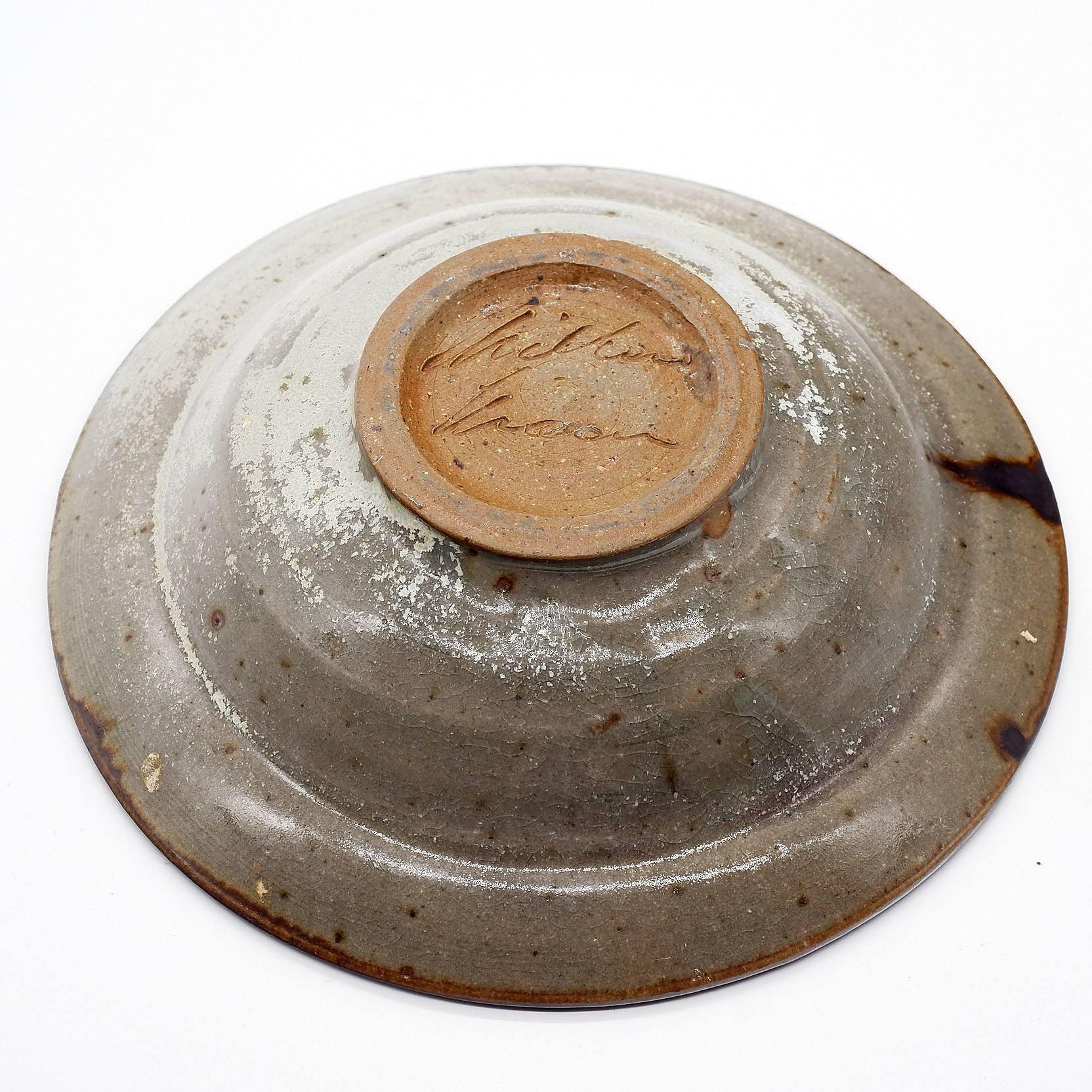 'Milton Moon (b. 1926) Glazed Stoneware Dish'
