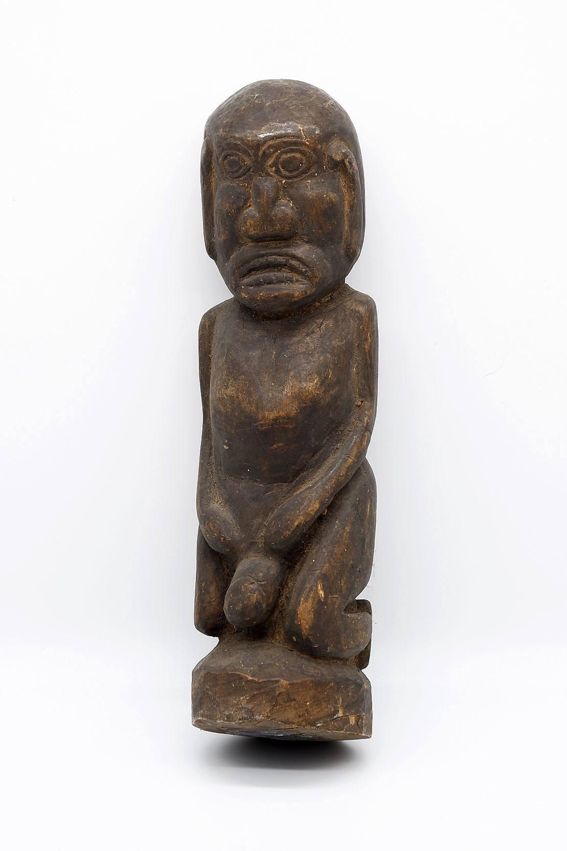 'Oceanic Tribal Carved Wood Male Figure'
