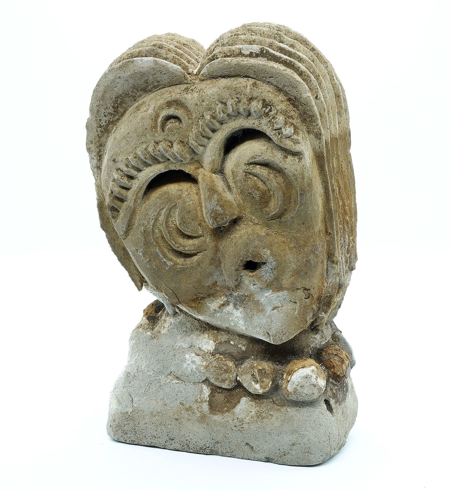 'I Wayan Cemul (Balinese) Carved Volcanic Stone Sculpture'