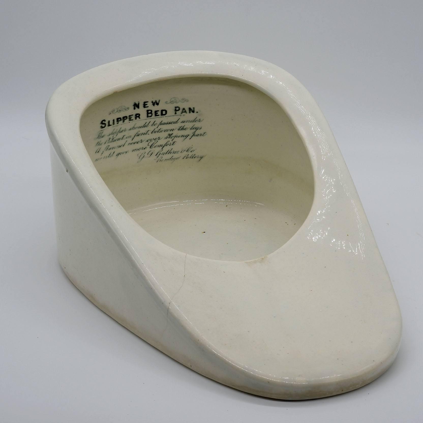 'Rare 19th Century Bendigo Pottery Bed Pan'