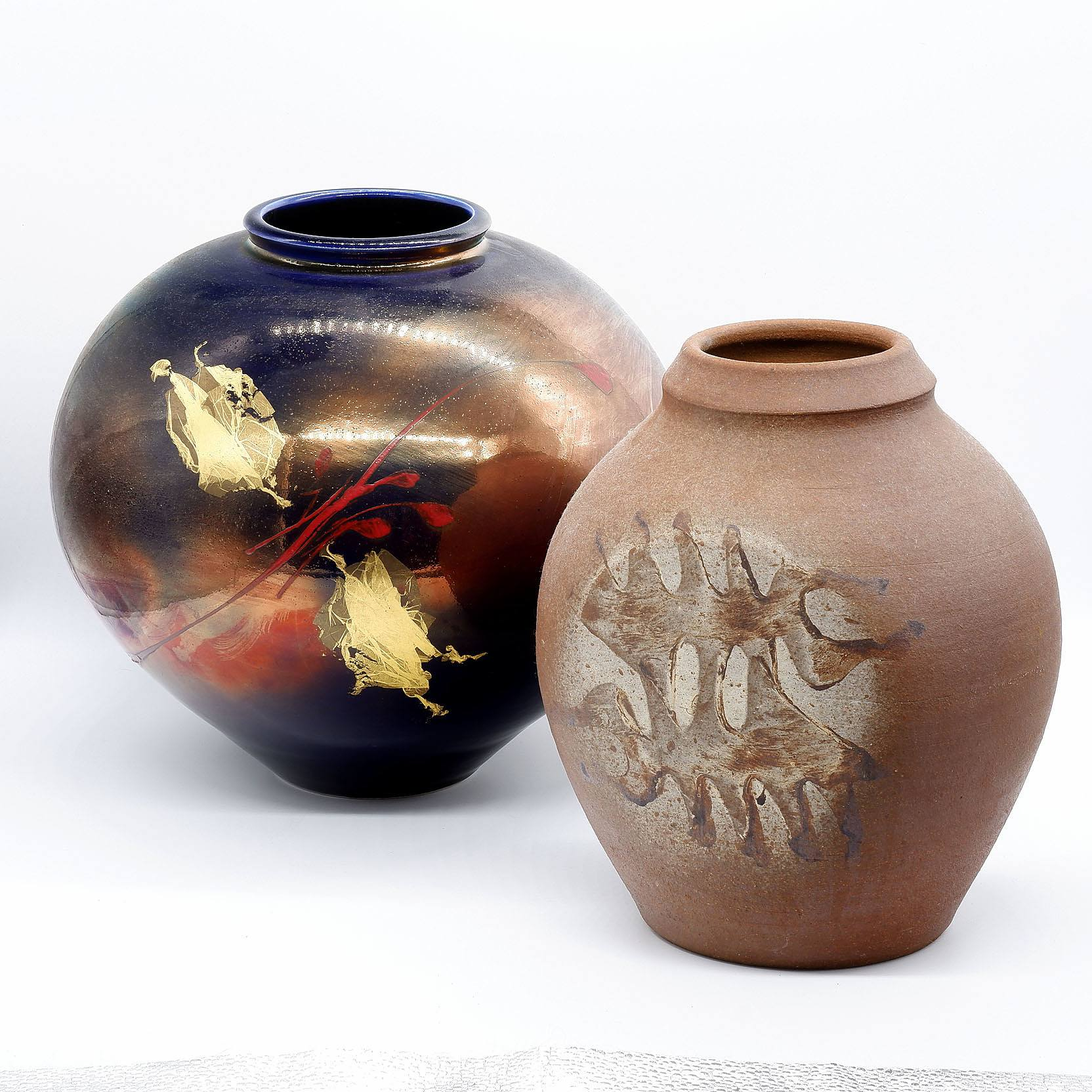 'Two Studio Pottery Vases, Both Signed'