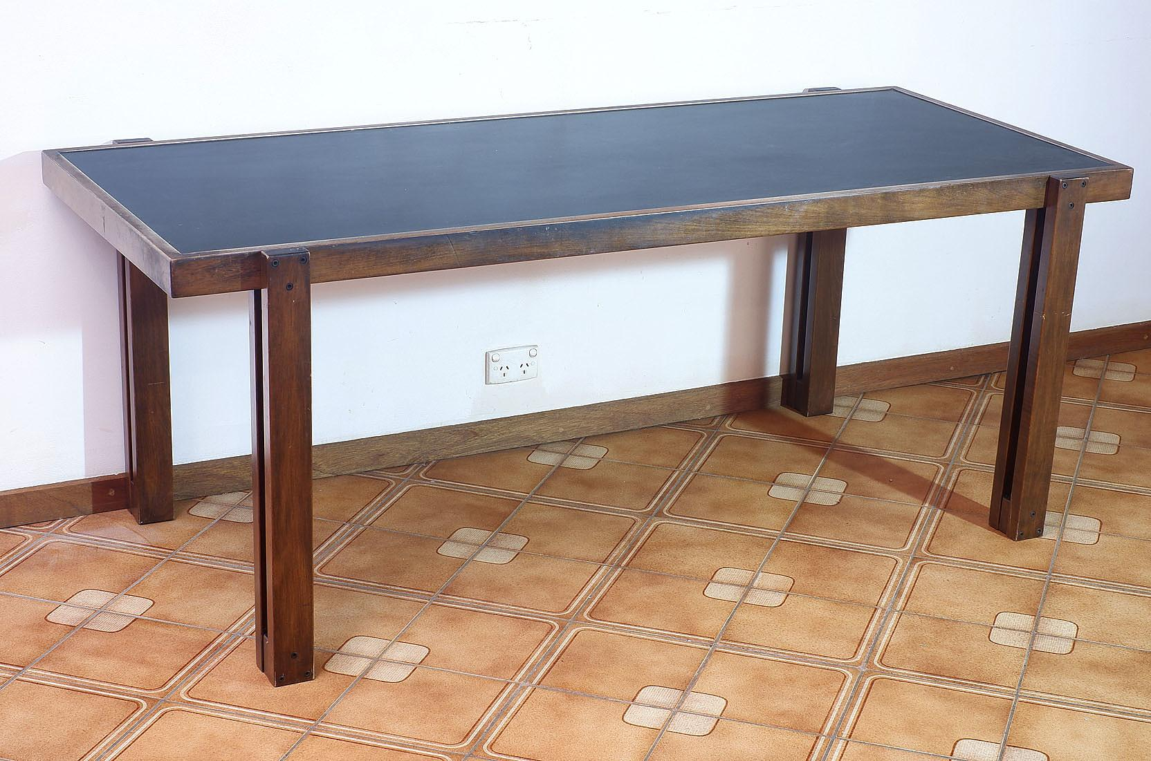 'Unusual 1970s Modernist Dining Table'