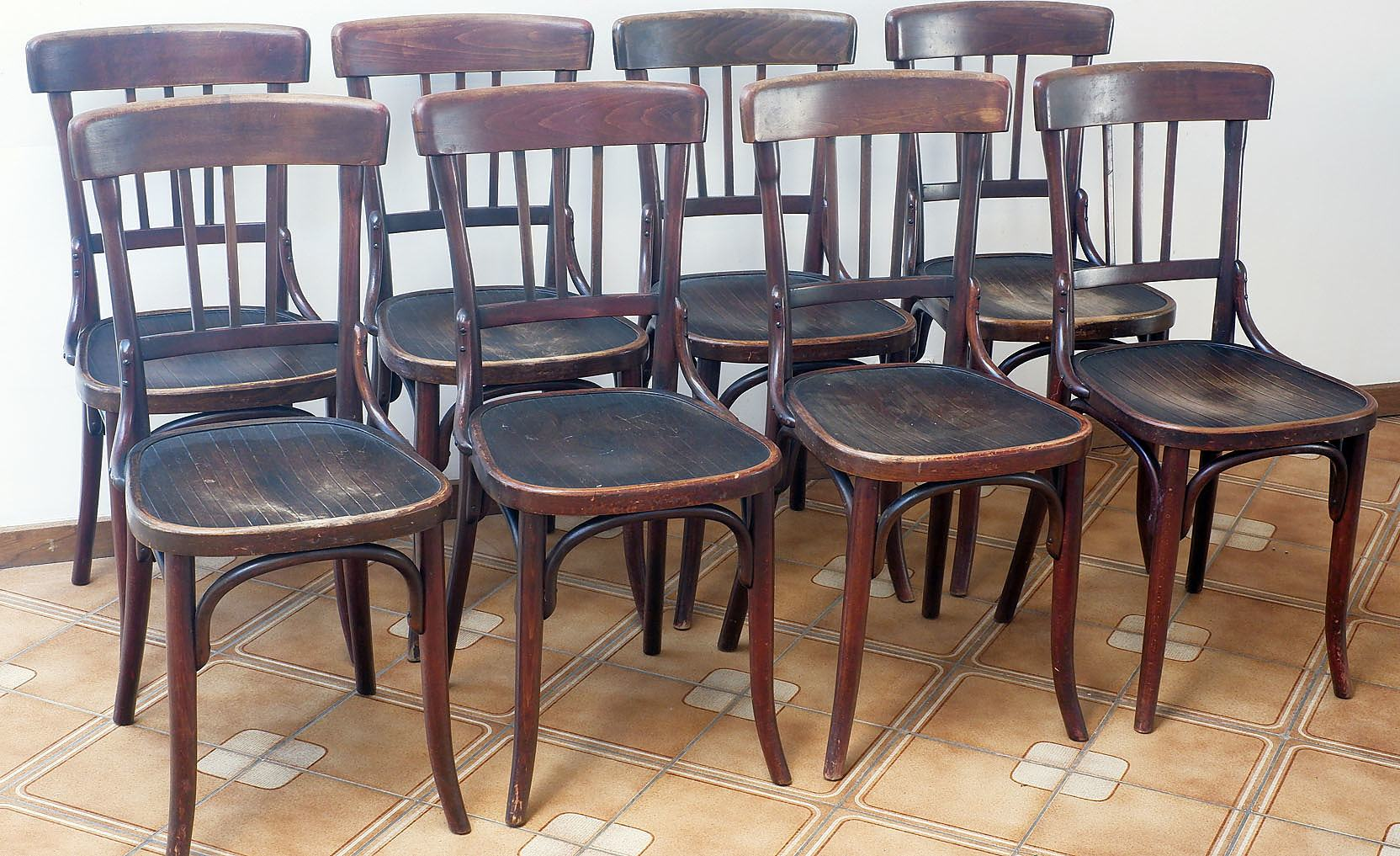 'Set of 8 Antique Jacob and Josef Kohn Bentwood Dining Chairs Circa Early 20th Century'