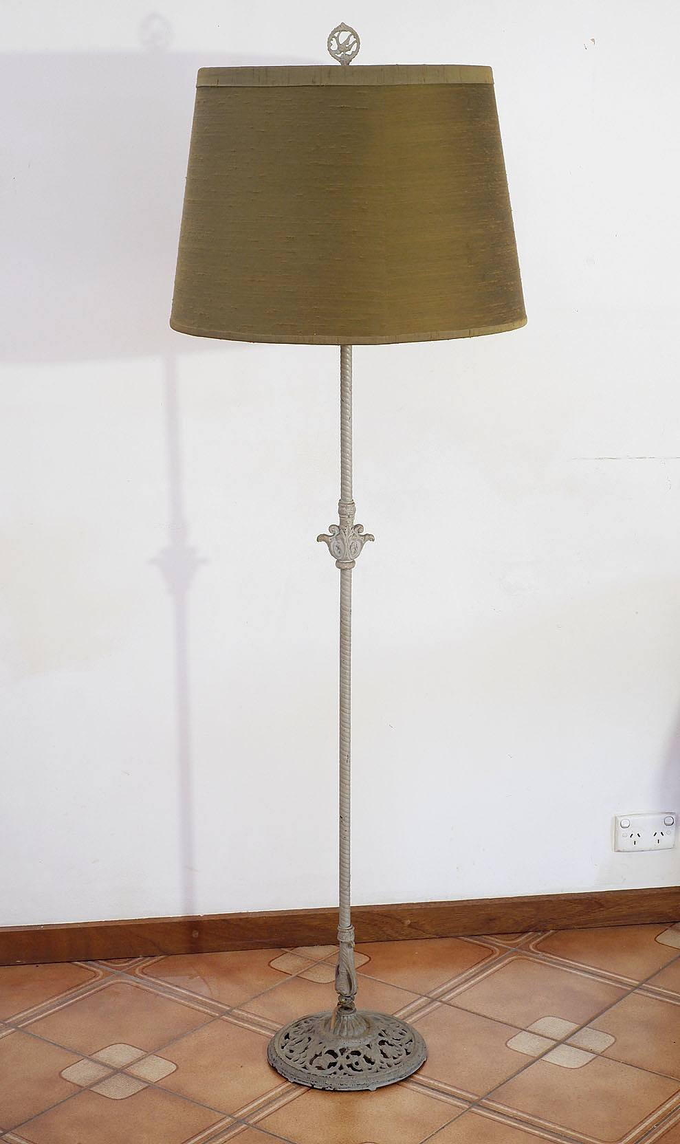 'Vintage Cast Metal Standard Lamp, Early to Mid 20th Century'