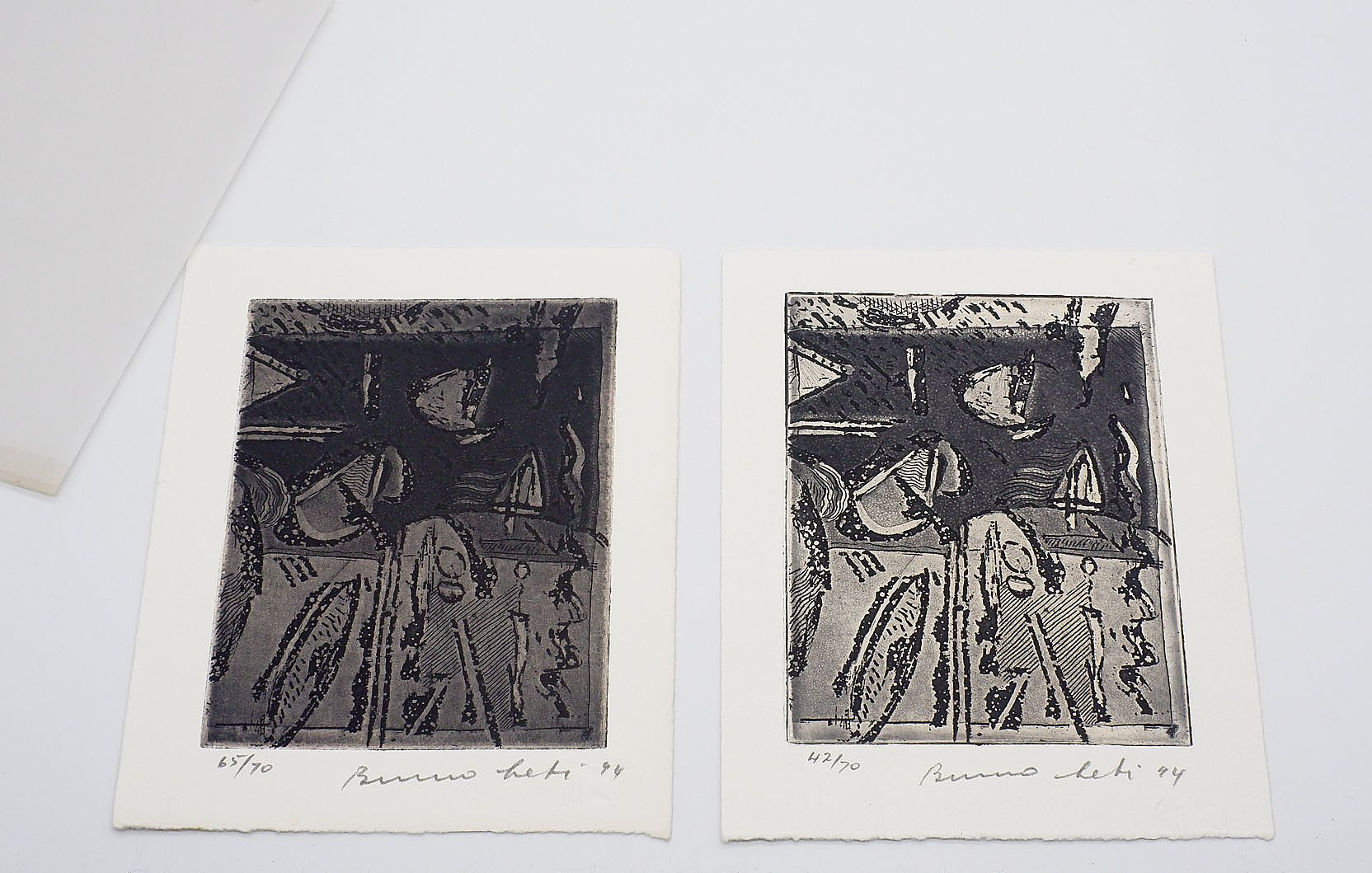 'A Small Book on Bruno Letis Monotypes, Sasha Grishin 1994, Accompanied by Two Bruno Leti Etchings'
